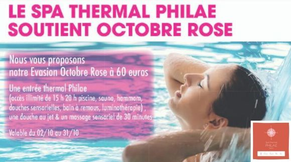 spa thermal philae- octobre rose
